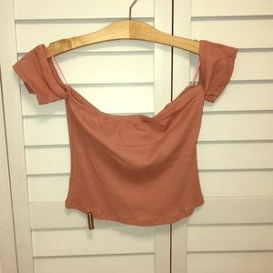 Blush pink Crop top with sleeves! 💗 New